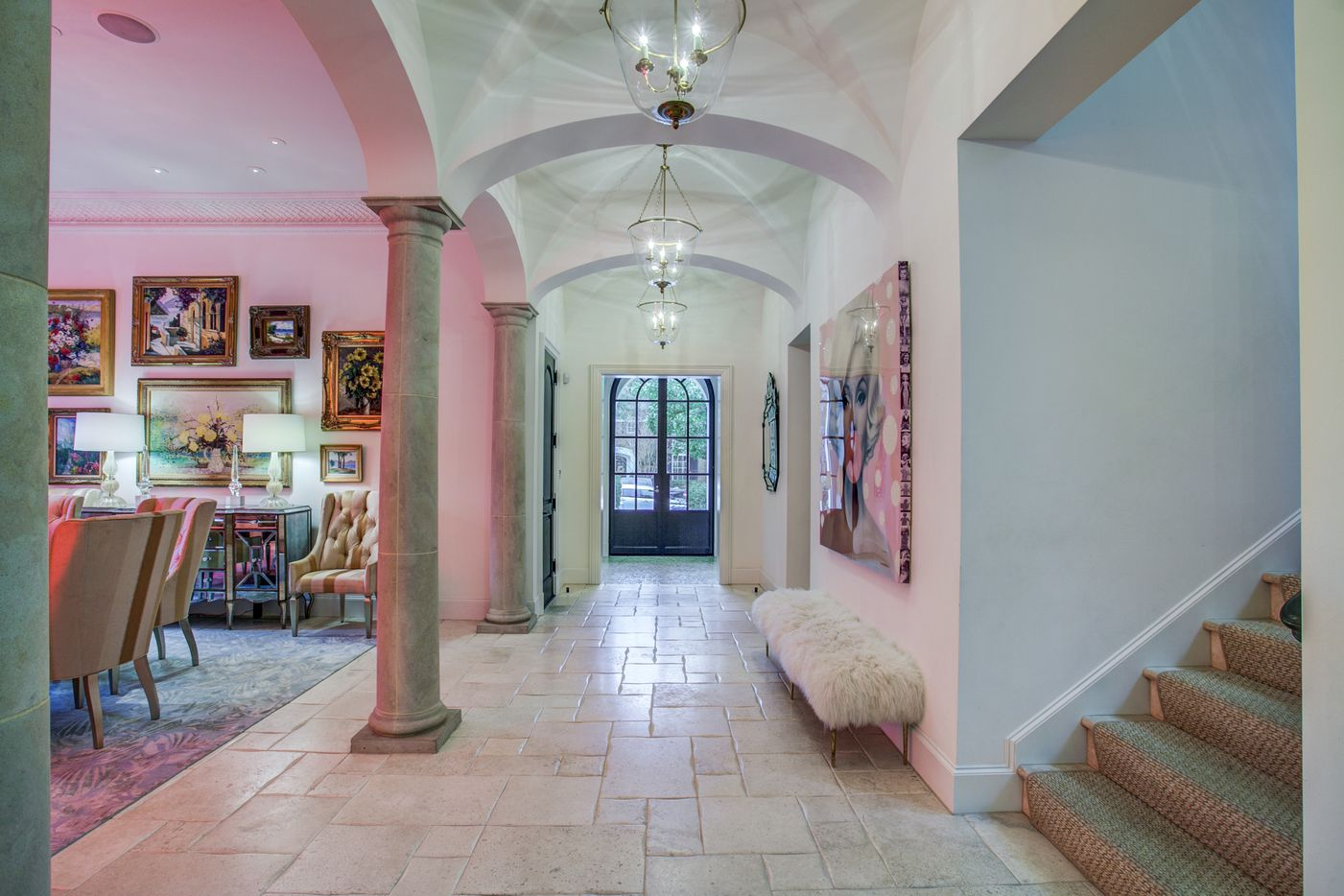 A look at the dining room of the Dallas home Kameron Westcott is selling.