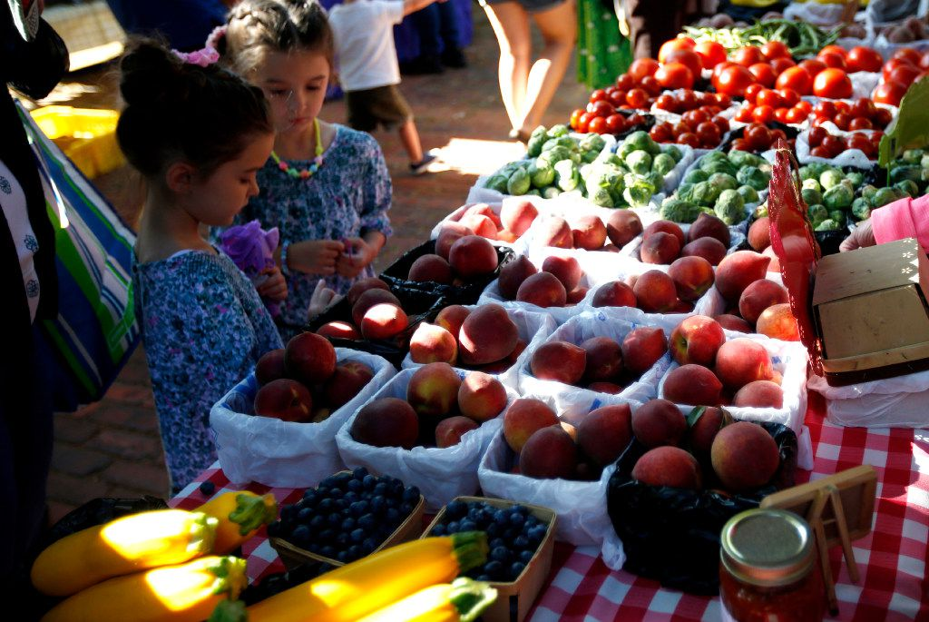 Baugh Farms sells peaches, tomatoes, Brussels sprouts and more at the McKinney Farmers Market.