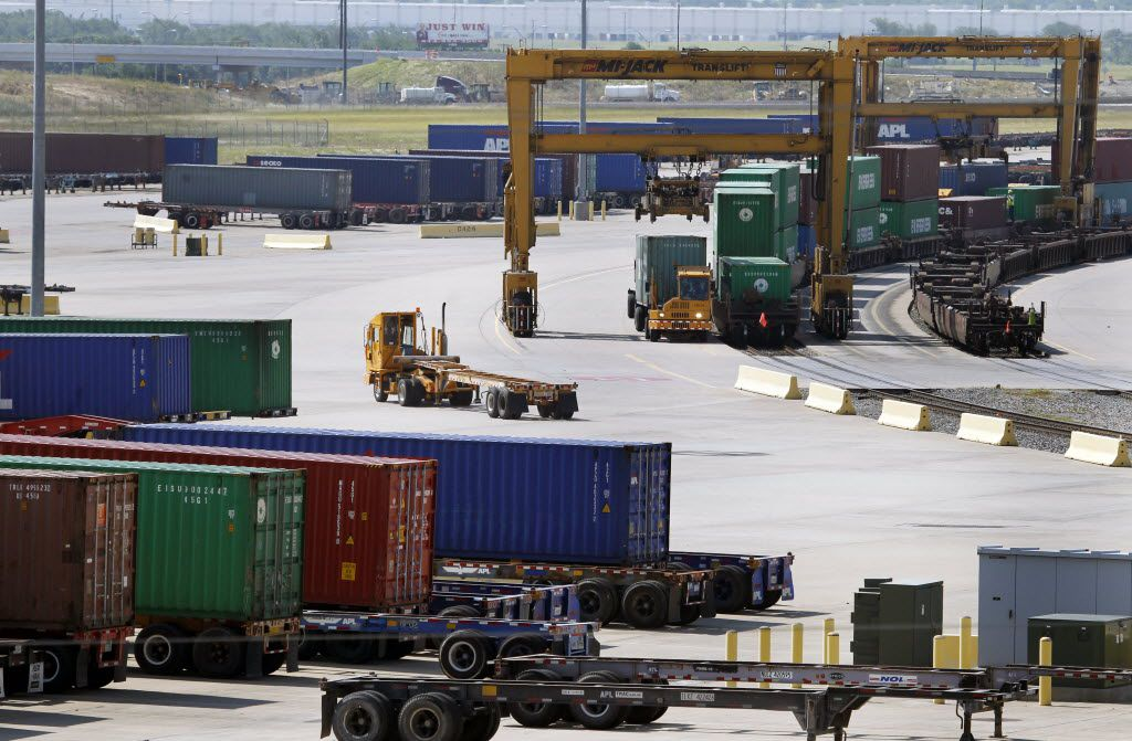 The inland port trade hub in southern Dallas County.