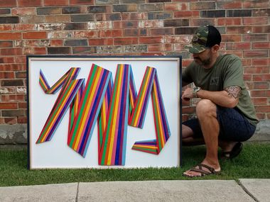 Ryan Ekmark used art as an outlet on his road to recovery and sobriety. He has since turned his wood art into a business named Recovered Calling.