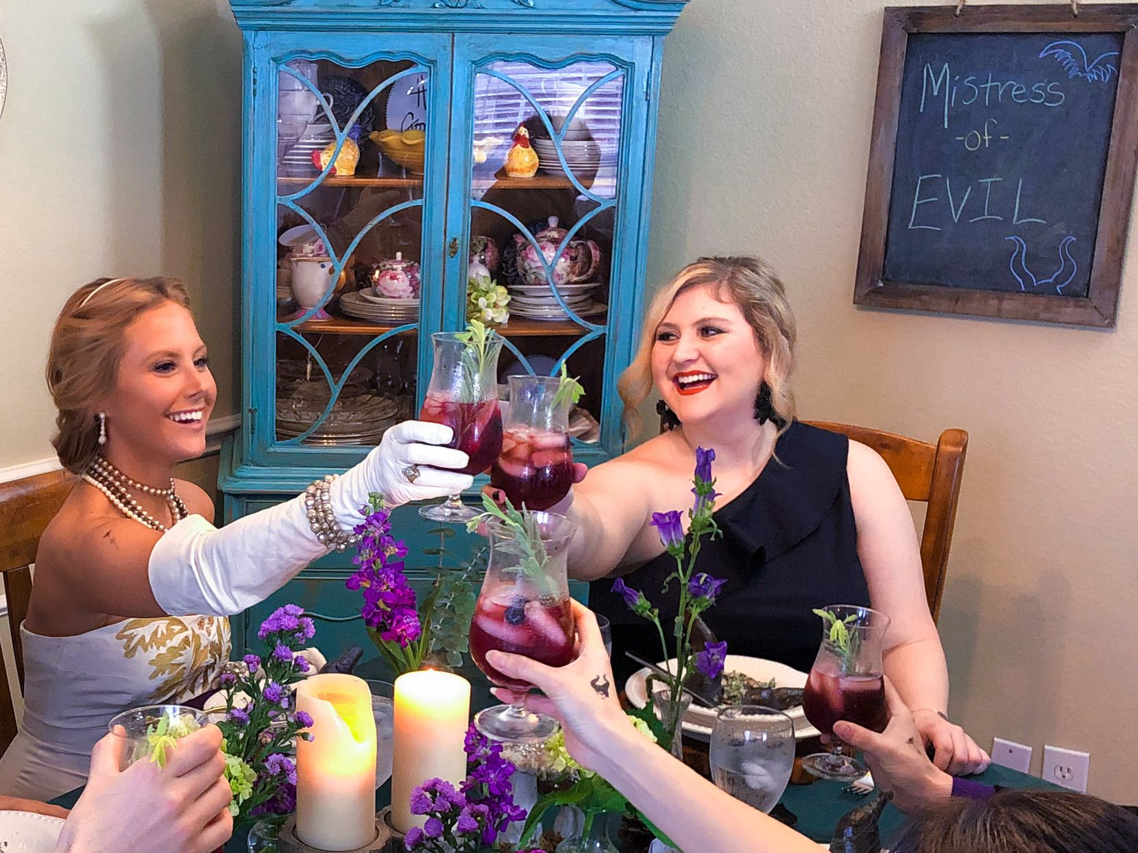 Owner of The Rose Table, Katie-Rose Watson, on right, hosts Disney-themed dinners. She hosted 12 in 12 months in 2018.