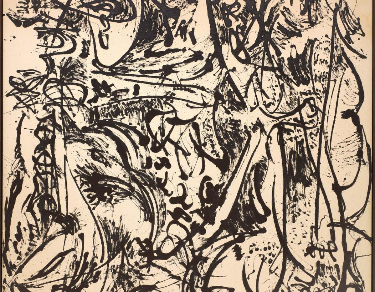 Jackson Pollock's  large, black-and-white  Echo: Number 25  can be seen at the Dallas Museum of Art through March 20.