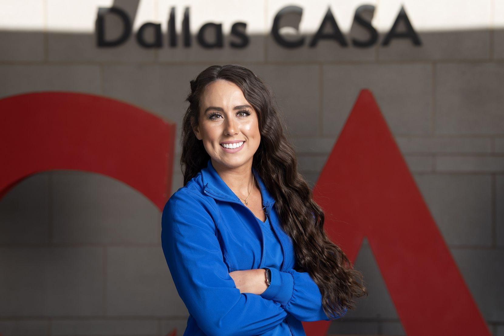 """Dallas CASA volunteer and Parkland nurse Hannah Pearson acknowledged that her coronavirus work is high-stress but said she's the perfect candidate for it:  """"I'm young, single and live alone so I wouldn't be risking the health of family in my home if I contract it."""""""