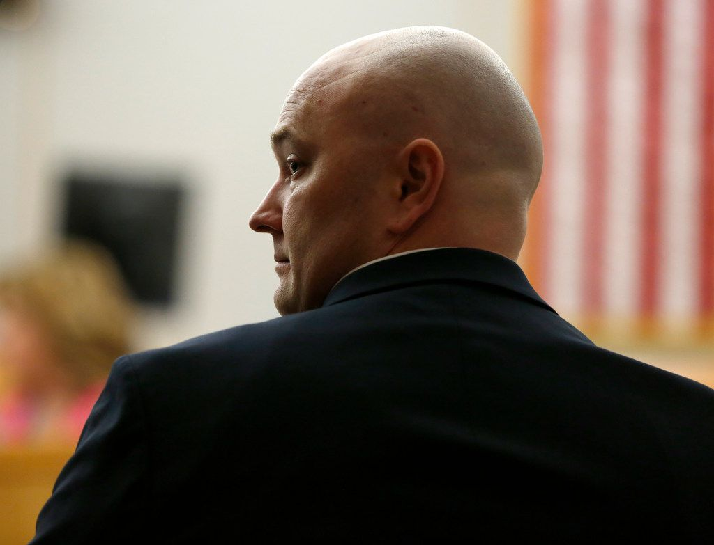 Former Balch Springs police officer Roy Oliver appeared in a pre-trial hearing Tuesday at the Dallas County courthouse.