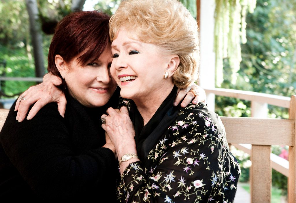 Carrie Fisher and her mother, Debbie Reynolds, at Fisher'€™s home in Beverly Hills, Calif., Nov. 27, 2010.
