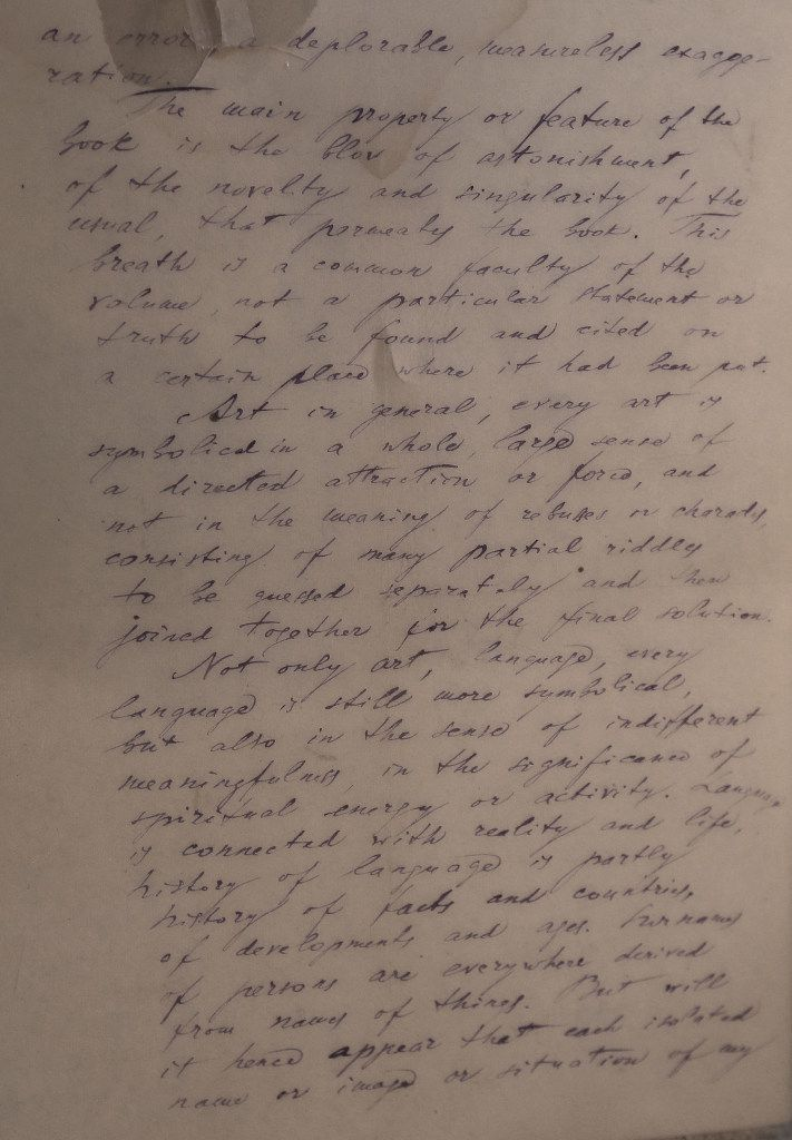 A portion of a letter received by Ron Jones of Dallas, from Doctor Zhivago author Boris Pasternak. (Louis DeLuca/Staff Photographer)