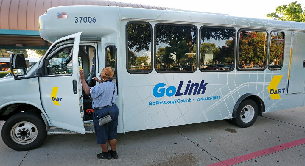 DART's GoLink service waits for customers at the Parker Road transit station in Plano. DART launched its pilot program for South Dallas and Fair Park on Monday.