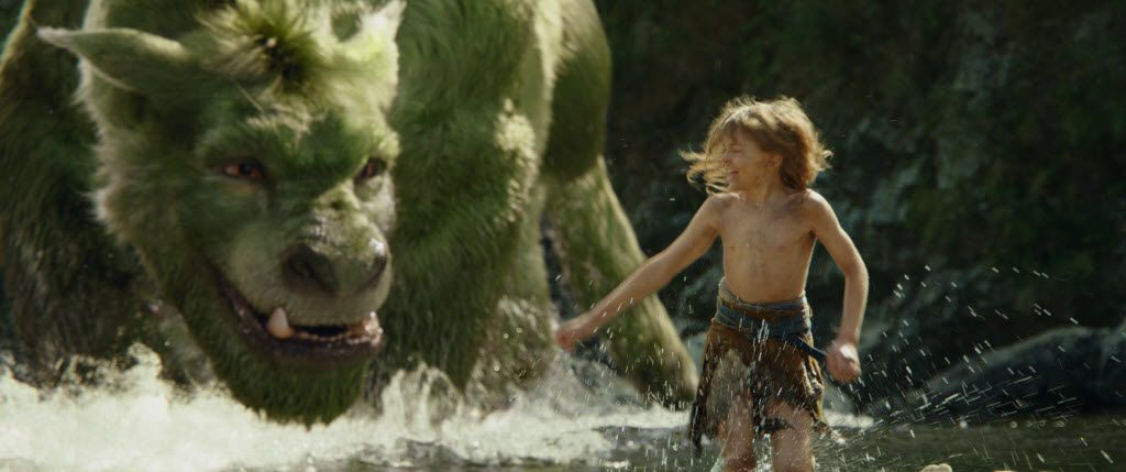 "Oakes Fegley in a scene from ""Pete's Dragon."""