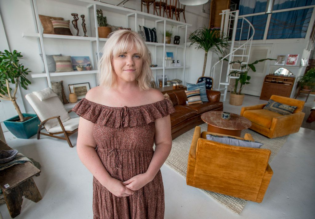 Molly Mathias, co-owner of Magic Hour, is photographed in her shop at 421 Tyler St. in Dallas on June 19, 2018.