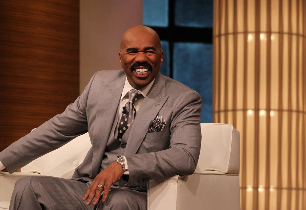 Steve Harvey talks to the audience during a taping of his show in Chicago, Illinois, on April 23, 2013. (Antonio Perez/Chicago Tribune/MCT) 09112014xBRIEFING