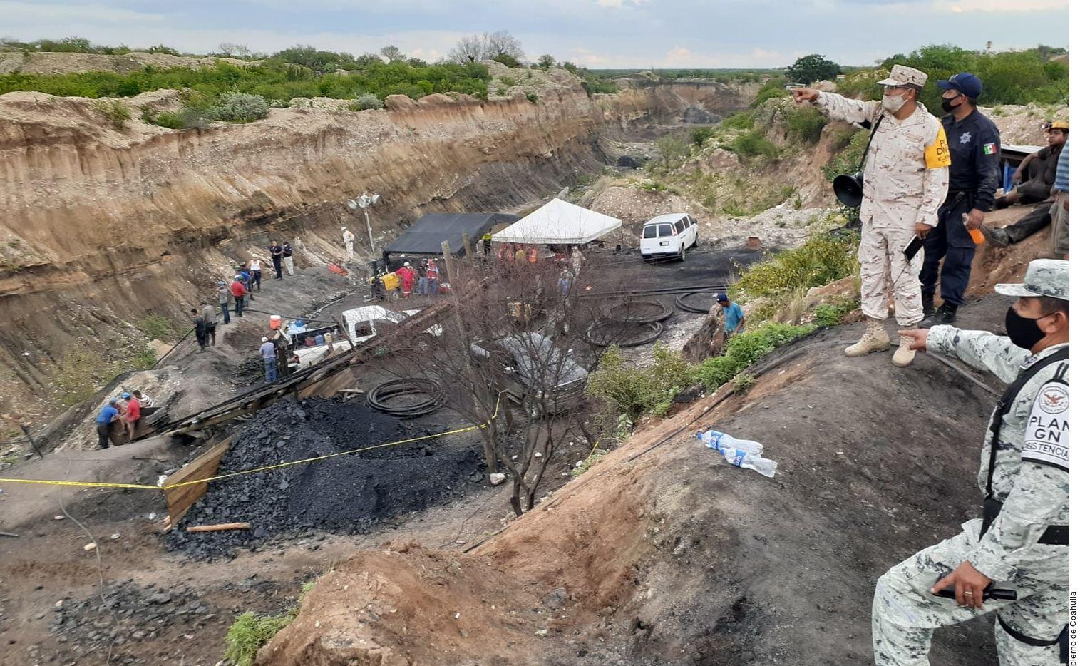 Un accidente en una mina de carbón en el municipio de Múzquiz, Coahuila, dejó a siete mineros atrapados.