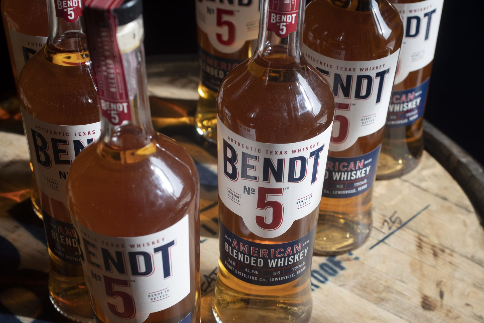 Blended whiskey from Bendt Distilling Co. on Nov. 13, 2019 in Lewisville, Texas.