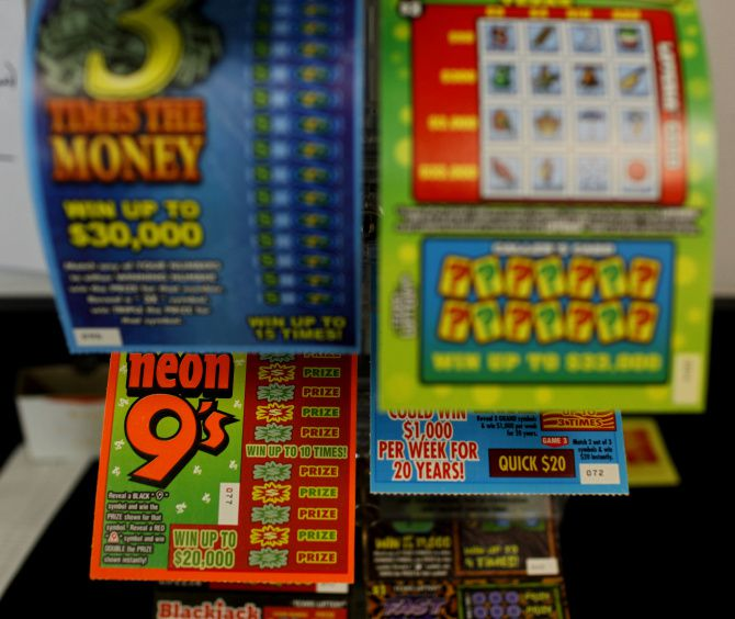 Texas lottery tickets are pictured in this file photo. A Hurst woman won $439,000 while playing the Weekly Half Grand game.