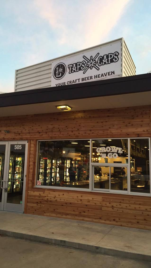 The business also has a walk-up window (pictured), for patrons who want a grab-and-go growler.
