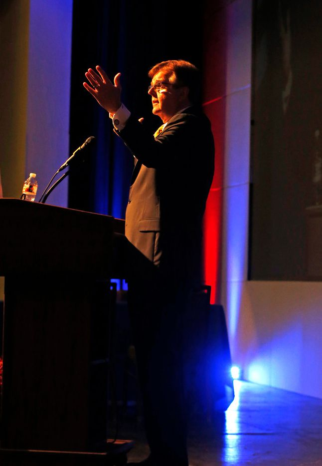 Lt Gov. Dan Patrick address the 53rd Texas Legislative Conference in New Braunfels on Friday, March 22, 2019 at the New Braunfels Civic/Convention Center.