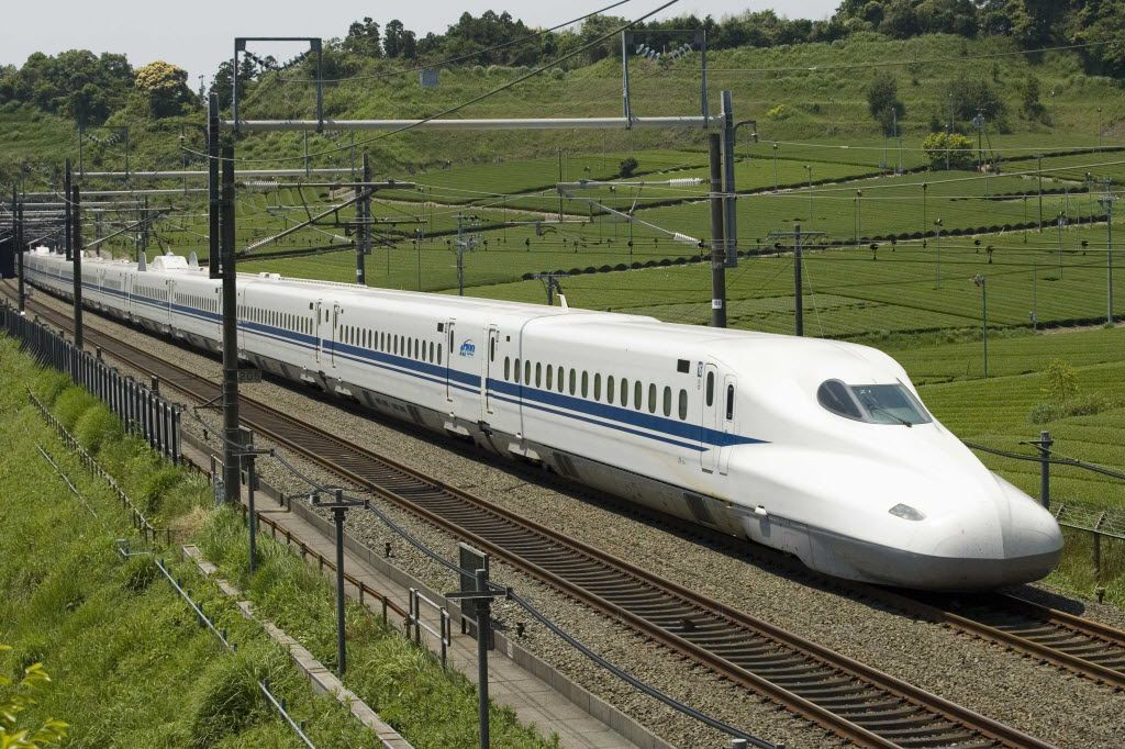 Photos of the N700 used under permission of JR Central. // Central Japan Railway Company is officially abbreviated in English as JR Central / bullet train 10232014xBRIEFING