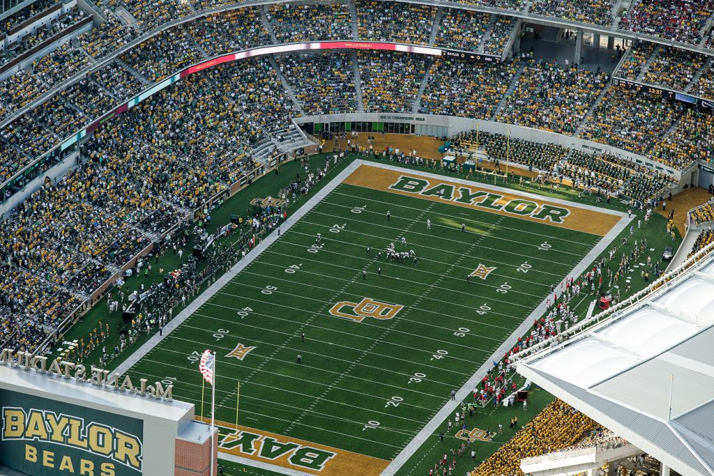 Baylor University fans packed the $266 million McLane Stadium when it opened in 2014. (Joe Griffin/Special Contributor)