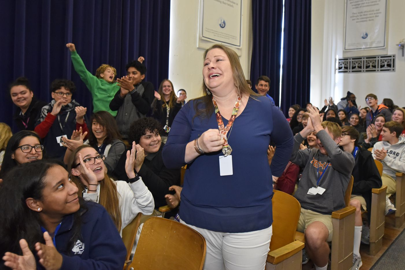 Susan Moreno, a J.L. Long Middle School Spanish teacher, is shocked as she's named a 2019 Milken Educator Award winner for being one of the nation's best educators.