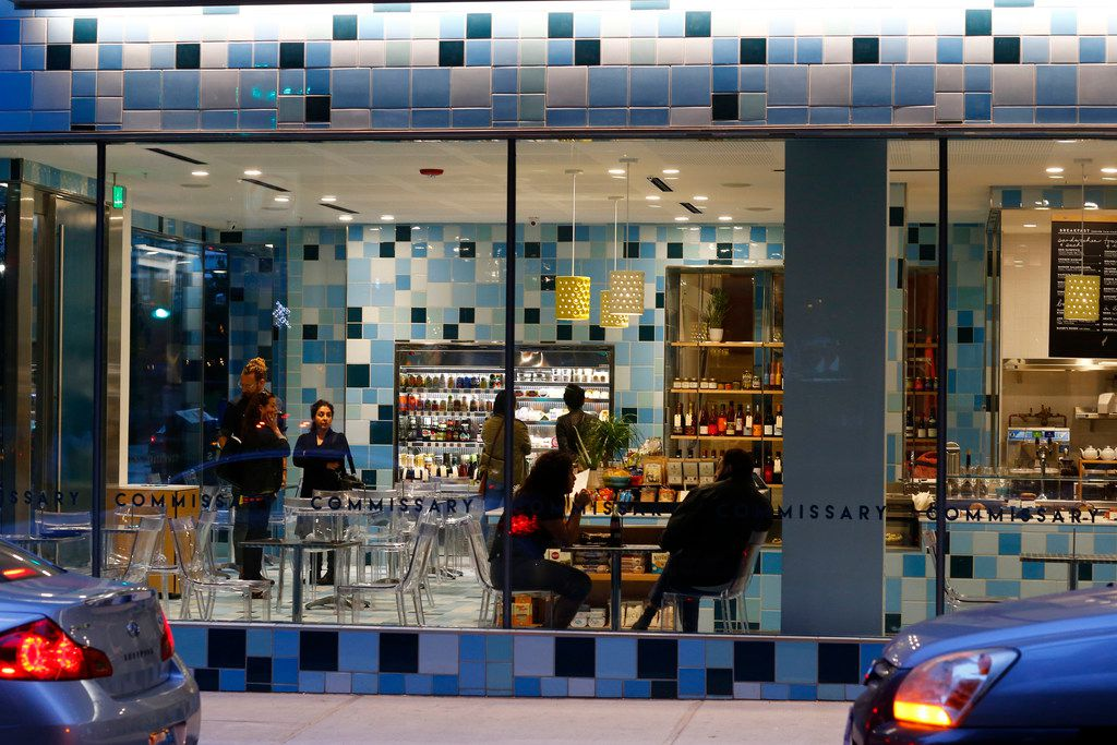 The tiles give The Commissary a distinctive look.