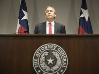 Texas Attorney General Ken Paxton announced four arrests in an alleged voter harvesting scheme in East Texas. (Jay Janner/Austin American-Statesman)