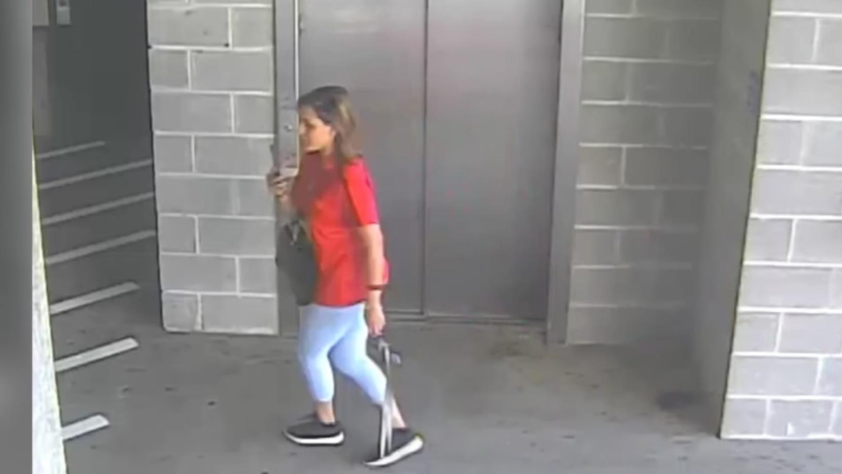 Prisma Denisse Peralta Reyes en una toma del video dado a conocer por la Policía de Mesquite.(CORTESIA)