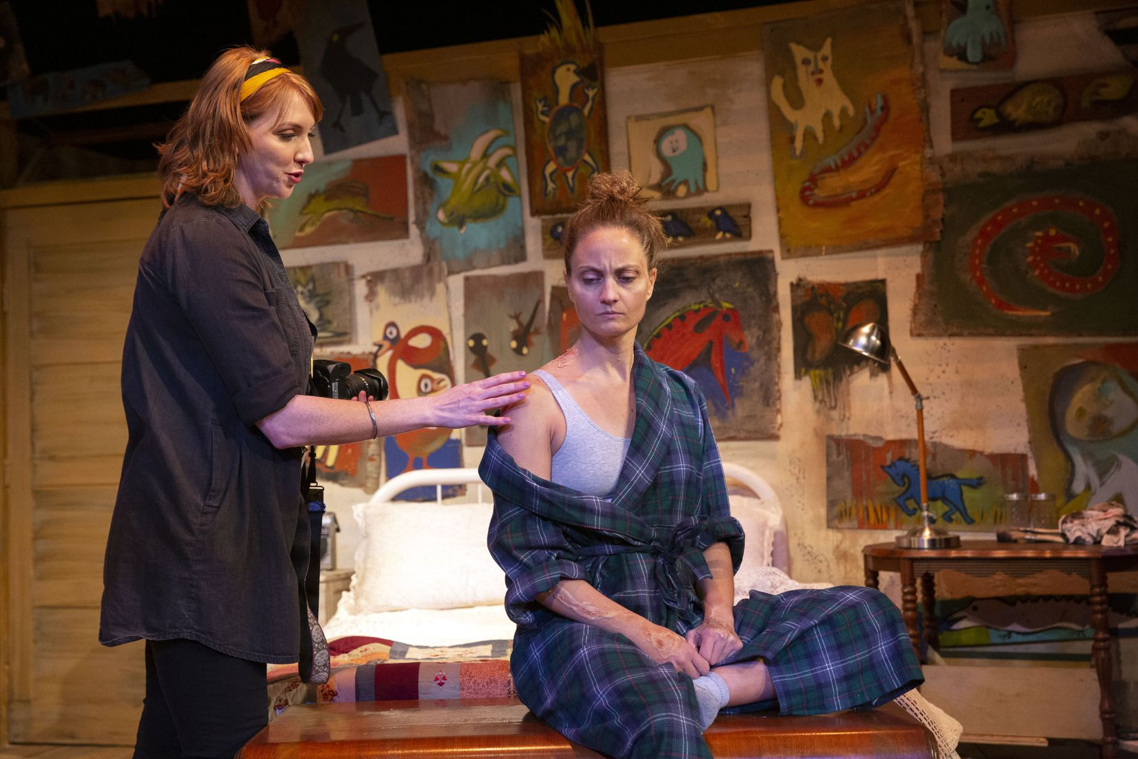 """Chase Crossno (left) and Kristi Funk Dana performed in February in """"Alabaster,"""" a play showing at Kitchen Dog Theater. The Dallas group is in the midst of a capital campaign to raise money for a new home."""
