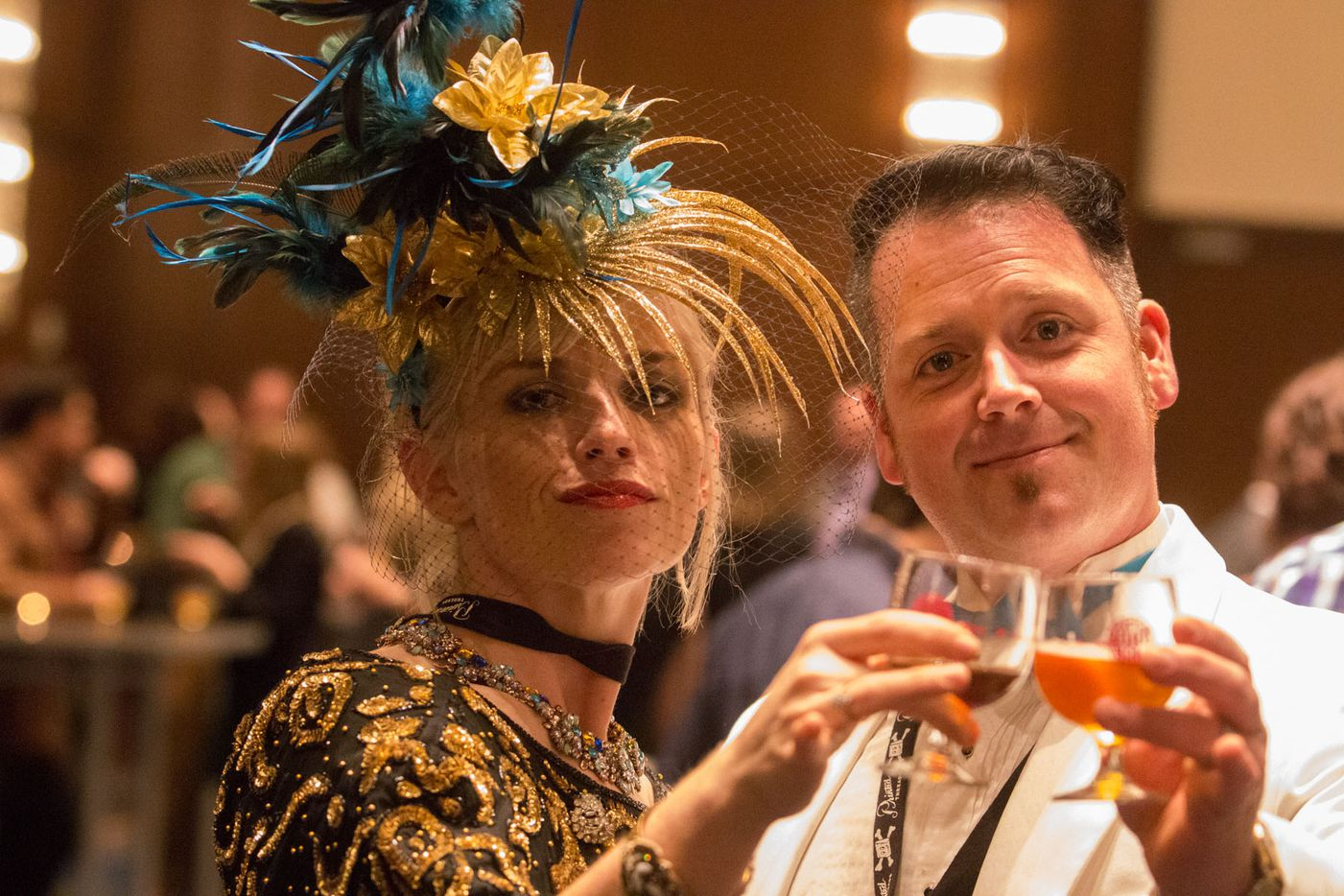 NTX Beer Week held its Second Annual Brewers Ball at the Renaissance Dallas Hotel on November 13, 2015. Michelle and David Muckian.