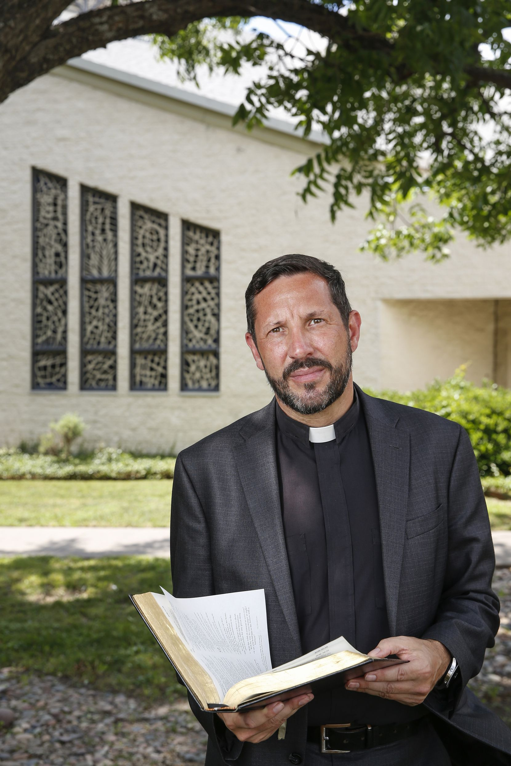 The Rev. Neil Thomas  at Cathedral of Hope on Thursday, June 4, 2020 in Dallas.  Matthew 6:5:  When you pray, do not be like the hypocrites, for they love to pray standing in the synagogues and on the street corners to be seen by others.