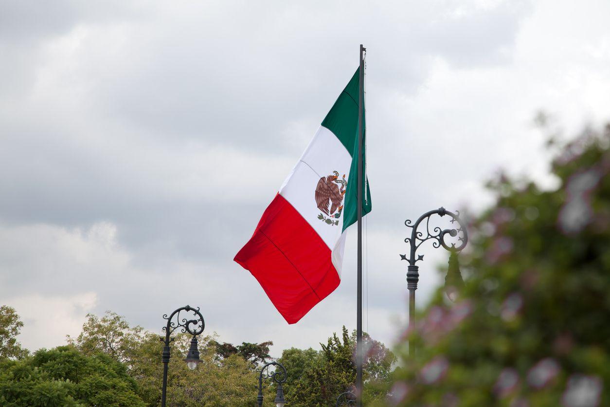 La bandera de México.