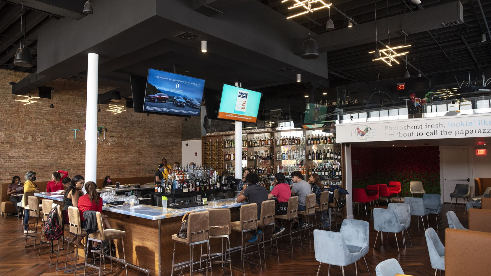 The bar and dinning area inside True Kitchen + Kocktails as employees train to open the restaurant in downtown Dallas, Aug. 20, 2020. Ben Torres/Special Contributor