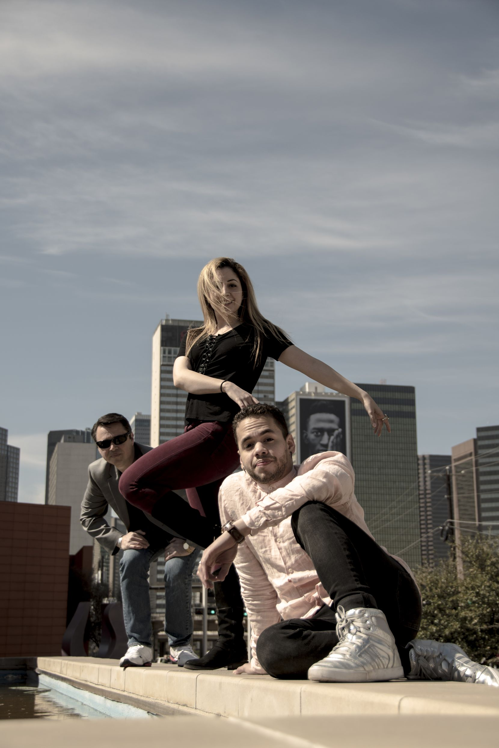 "From left, Carter Alexander, Hailey Von Schlehenried and Albert Drake are the choreographers behind ""AKA:ballet,"" a project to create six or seven new works to premiere at the Latino Cultural Center in July."