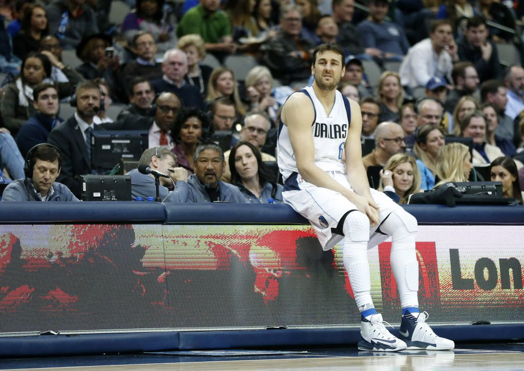 Dallas Mavericks center Andrew Bogut waits to enter the game against Phoenix Suns during the second half at American Airlines Center in Dallas, Thursday, Jan. 5, 2017. The Dallas Mavericks lost 102-95. (Jae S. Lee/The Dallas Morning News)