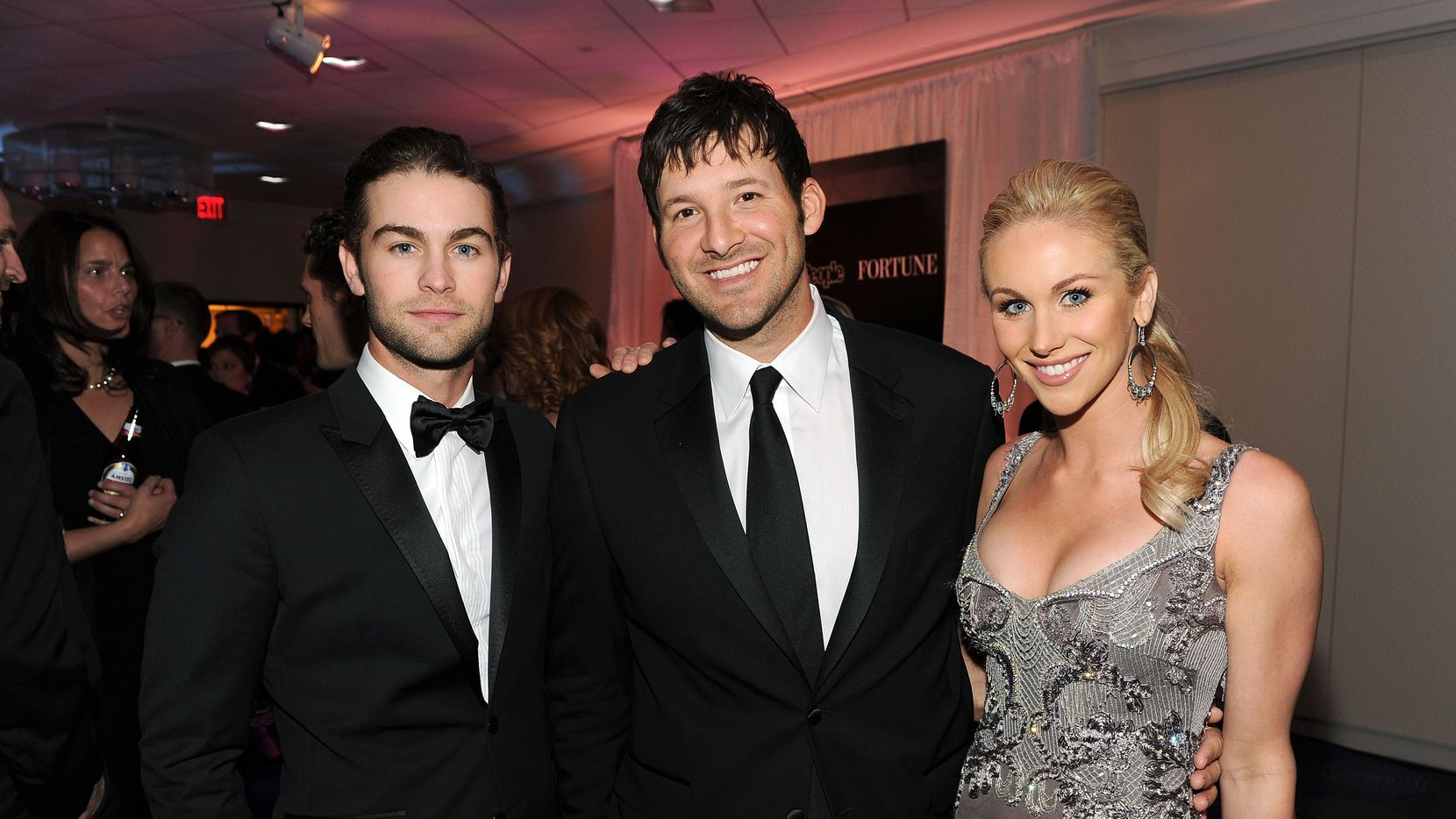 WASHINGTON, DC - APRIL 30:  (L-R)  Actor Chace Crawford, NFL player Tony Romo and Candice Crawford attend the TIME/CNN/People/Fortune White House Correspondents' dinner cocktail party at the Washington Hilton on April 30, 2011 in Washington, DC.  (Photo by Larry Busacca/Getty Images for TIME) *** Local Caption *** Chace Crawford;Tony Romo;Candice Crawford;
