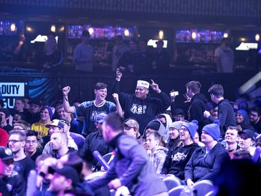 Fans await the start of Dallas Empire's match against Atlanta Faze in the Call of Duty League Launch Weekend at the Armory in Minneapolis, Minn., January 25, 2020.