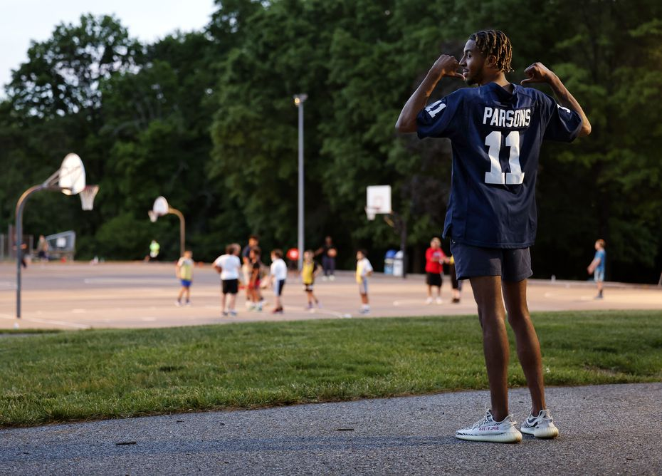 Micah Parsons' childhood friend AJ Brown sports his No. 11 Penn State jersey at Brightbill Park where the two played summer league basketball together in Harrisburg, Pa., Wednesday, May 19, 2021.