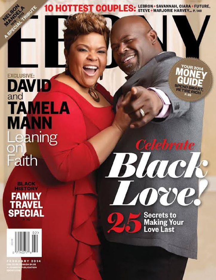 David and Tamela Mann appeared on the cover of Ebony's February 2014 issue.