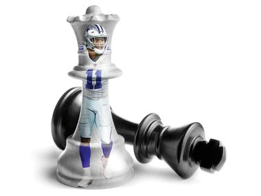 An illustration featuring Dallas Cowboys linebacker Micah Parsons (Michael Hogue/Dallas Morning News)