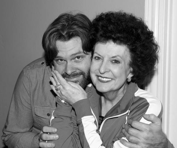 Gordon Keith and his mother, Christmas 2013