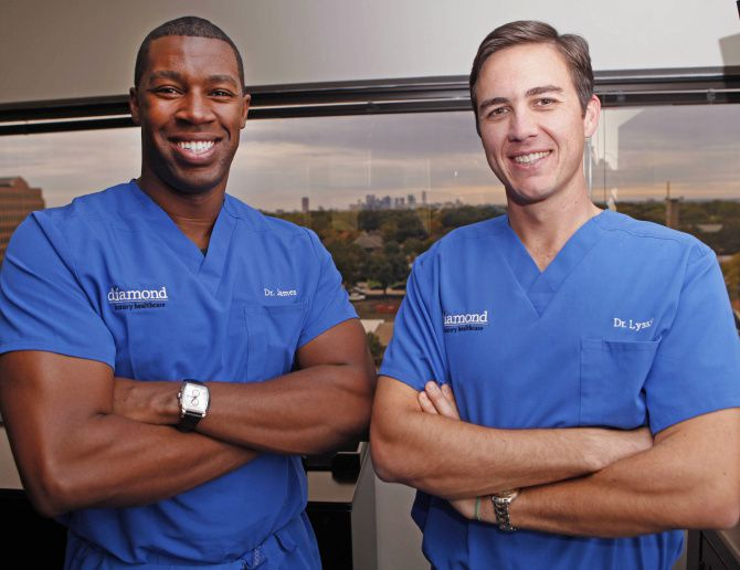 For a monthly fee, Drs. James Pinckney (left) and Anthony Lyssy offer full access to their skills.
