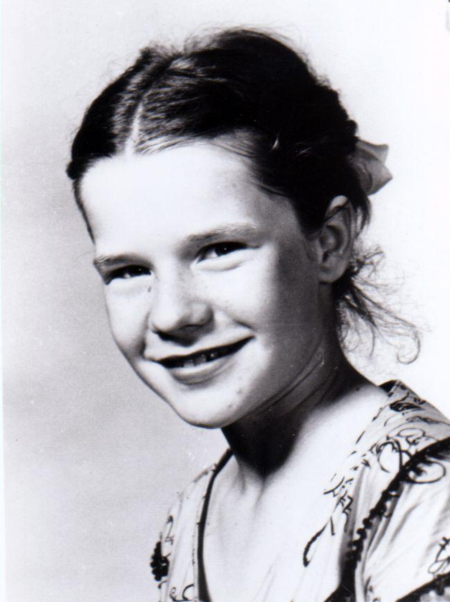 Janis Joplin in a school photo, probably in the ninth grade.