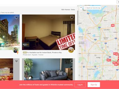 Dallas' Airbnb listings