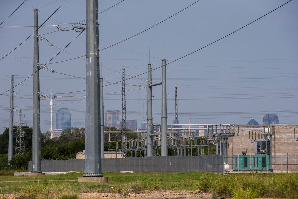 An Oncor power substation in Dallas. ERCOT is forecasting a peak demand of 74,853 megawatts this summer, 1,300 megawatts higher than the all-time peak demand record set July 19, 2018, when temperatures reached 108 degrees at DFW International Airport.