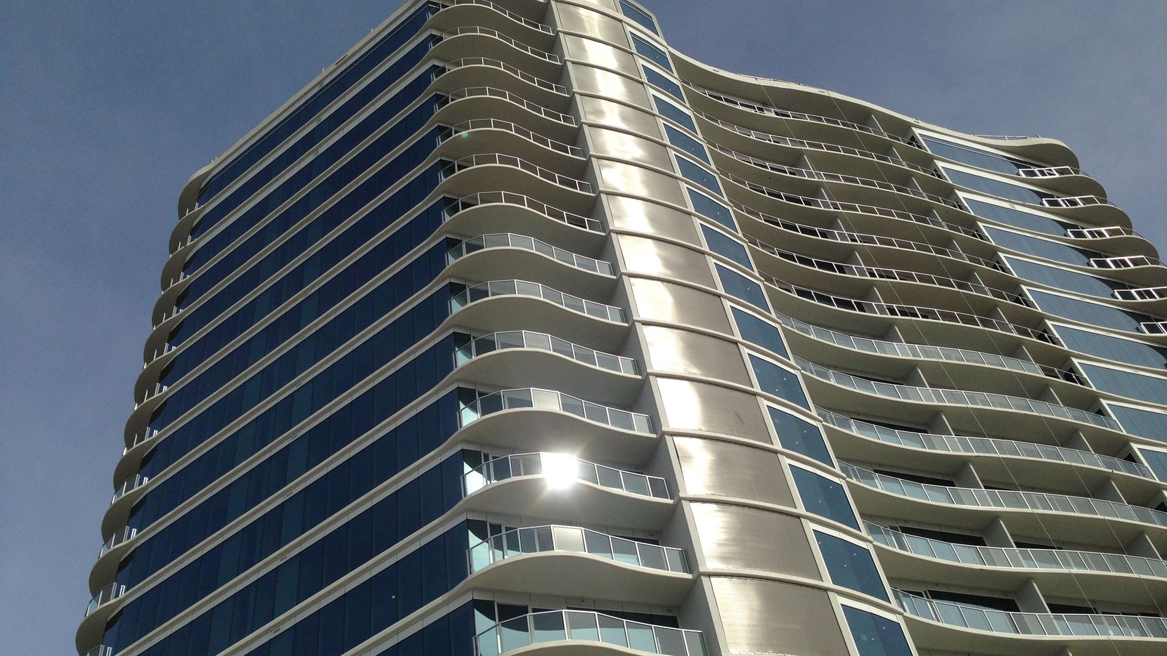 The 20-story One Uptown residential tower is at McKinney Avenue and Routh Street.