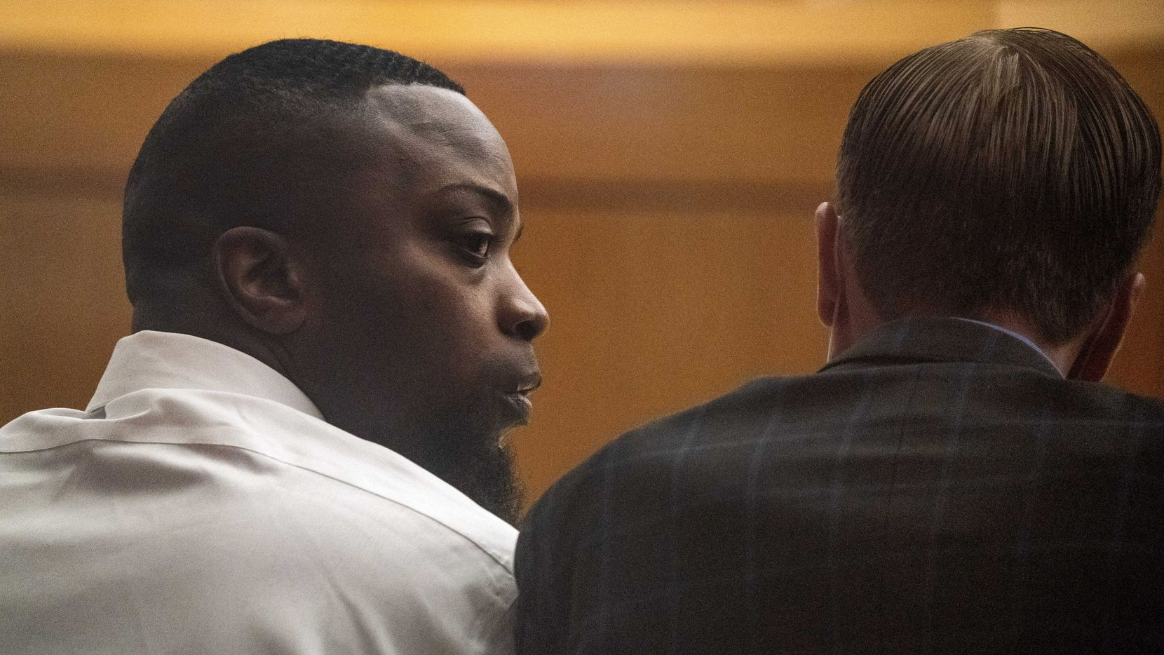 Brandon Edwards is shown during trial proceedings July 19, 2021, at the Frank Crowley Courts Building in Dallas.