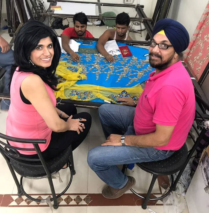 Ruby Bhandari working at her factory in New Delhi.