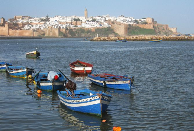 This January 2013 photo shows the Kasbah des Oudayas in Rabat, Morocco, high on a cliff over the Atlantic Ocean. Many historic sites in Morocco's capital line the Bou Regreg river, plied by fishermen.