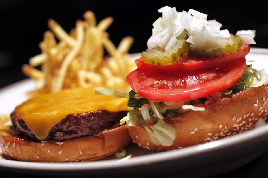 The Houston's cheeseburger was always popular. Here's a very similar version of that burger at sister company Hillstone, photographed in 2012.