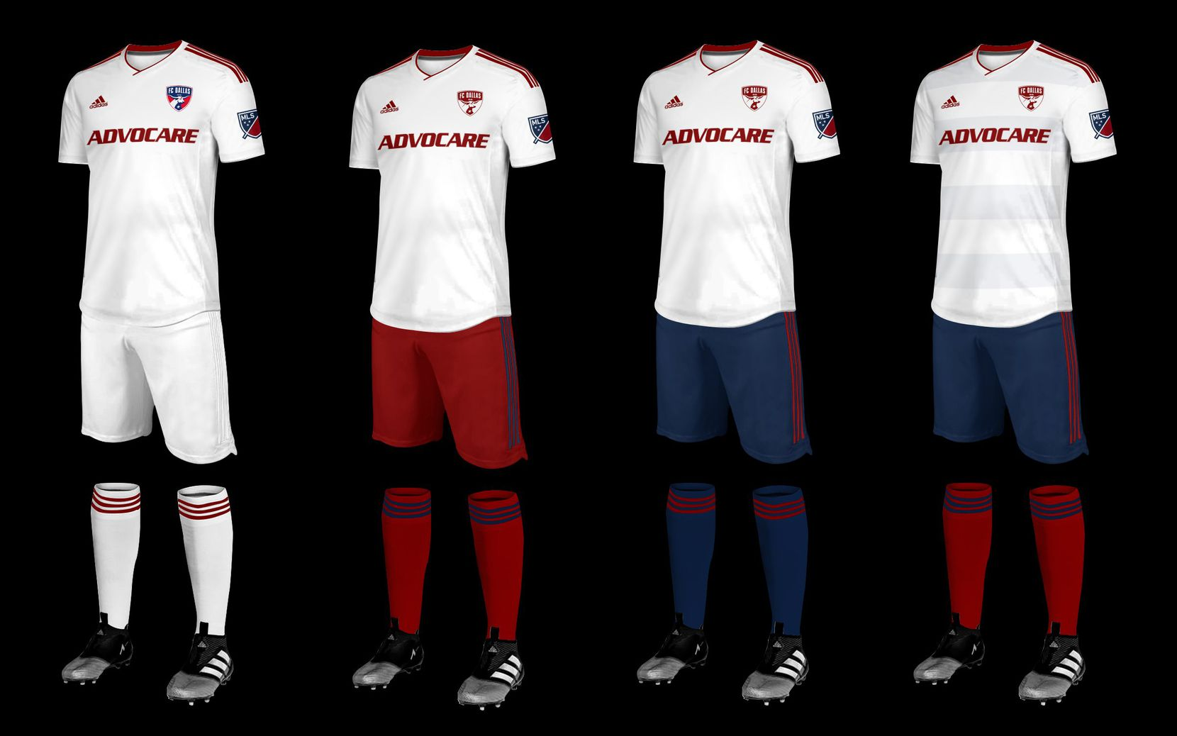 Peter Welpton's classic combo kit concept for 2019 FC Dallas secondary kits.