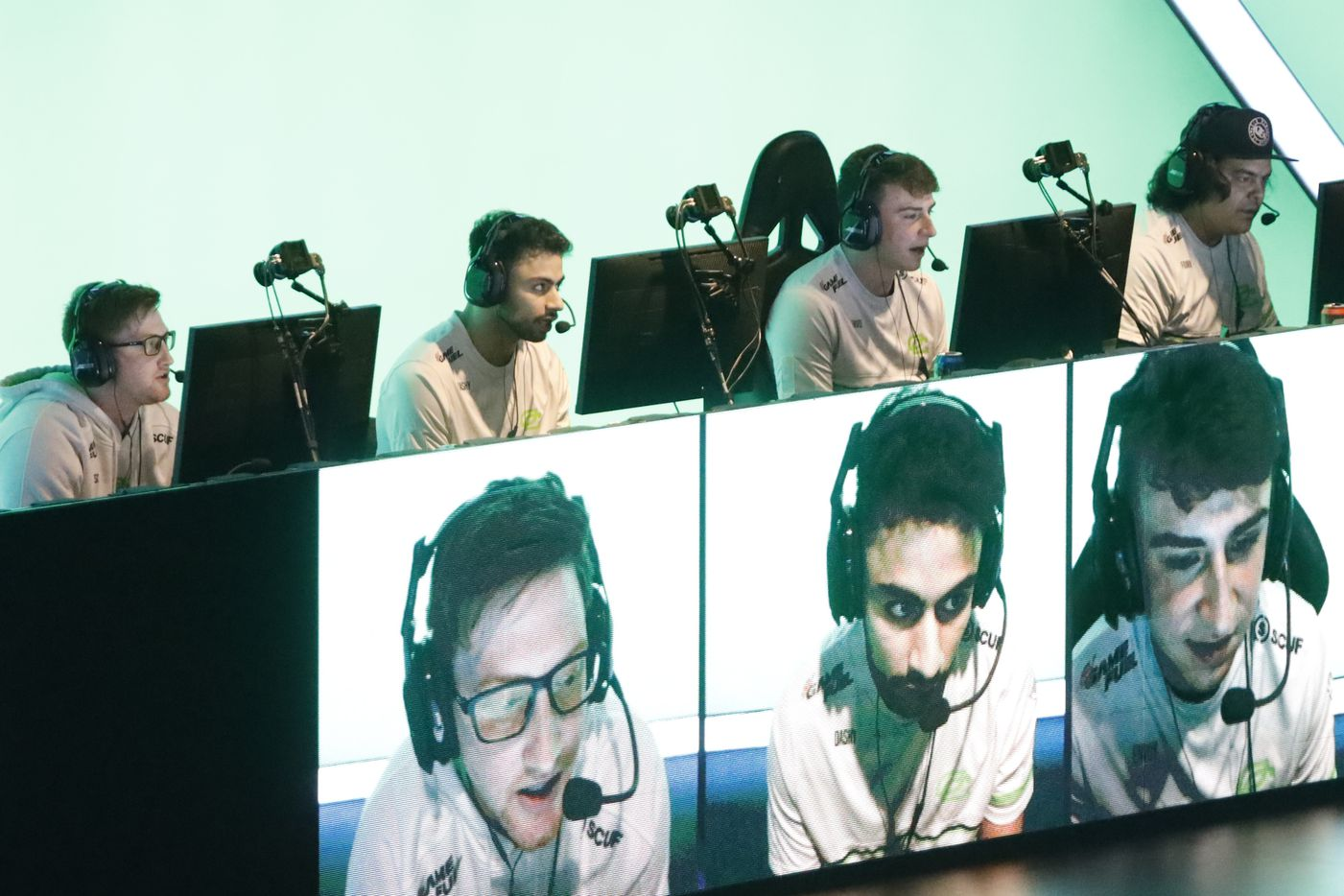 Chicago OpTic compete in a match against Dallas Empire during the Call of Duty League Major V tournament at Esports Stadium Arlington on Sunday, Aug. 1, 2021, in Arlington. Empire finished 4th in the tournament after a 3-1 loss to OpTic. (Elias Valverde II/The Dallas Morning News)