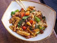 Malai Kitchen, a Southeast Asian restaurant, is moving into the Park Cities area of Dallas. One of its menu items is drunken noodles, pictured here.